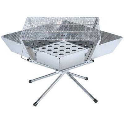 【日本 UNIFLAME】不鏽鋼經典露營摺疊焚火台 烤肉架 四角特殊設計(683071)