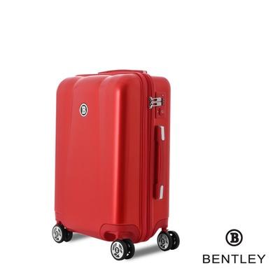 【Bentley 賓利】PC+ABS 20吋碳纖維拉鍊款輕量行李箱
