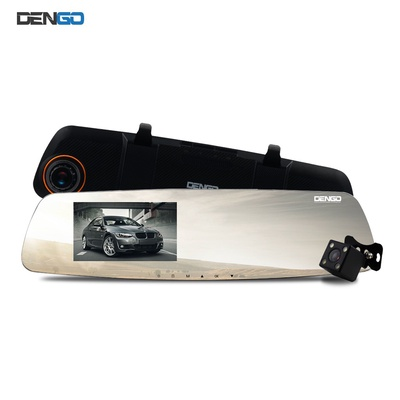 DENGO   Advance Deluxe (Black) กล้องติดรถยนต์ จอกระจก คมชัดระดับ Super HD 2K พร้อมกล้องหลัง และระบบแจ้งเตือนออกนอกเลนอัจฉริยะ