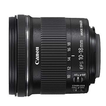 Canon 佳能 EF-S 10-18mm f/4.5-5.6 IS STM超廣角變焦鏡頭