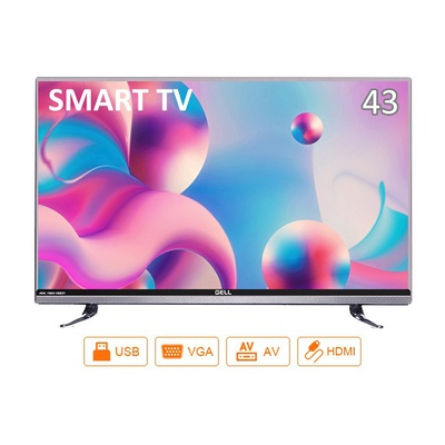 GELL | 43-inch Smart LED TV FHD Youtube Wifi Android TV Free Bracket Multiports