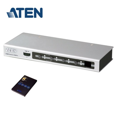 【ATEN】4埠 HDMI 四進一出型 影音切換器(VS481A)