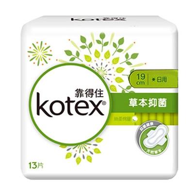 【Kotex 靠得住】溫柔宣言草本抑菌 日用量少衛生棉19cm