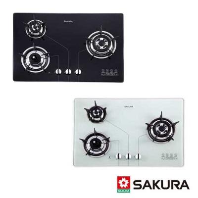 櫻花 SAKURA  三口防乾燒節能檯面爐G-2830KG