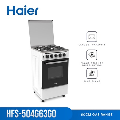 Haier   HFS-504G63GO 50cm 4 Gas Burners with 60L Single Burner Gas Oven Cooking Range