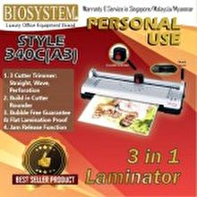 BIOSYSTEM 3in 1 Personal Laminator Style 340C