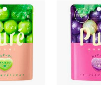 【甘樂 Kanro】Pure鮮果實軟糖45.5g(葡萄/白葡萄)