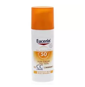 Eucerin | ครีมกันแดดผิวหน้า Eucerin Sun CC Cream Acne Oil Control SPF50+ PA++++ 50 ml