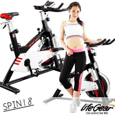 【來福嘉 LifeGear】27878 SPIN18 前驅飛輪健身車(高CP靜音型)