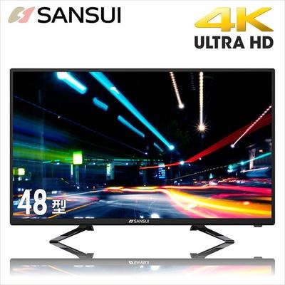 【SANSUI山水】48型 4K UHD多媒體液晶顯示器