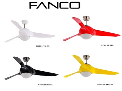 Fanco Ceiling Fan Designer Globe 54-inch