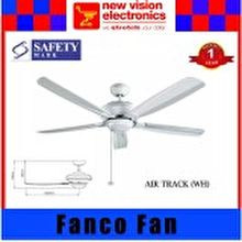 Fanco   Ceiling Fan Titanium Air Track 56-inch