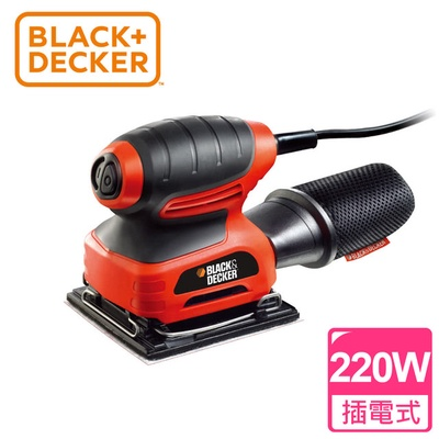 【BLACK&DECKER 百工】1/4砂磨機(KA400)