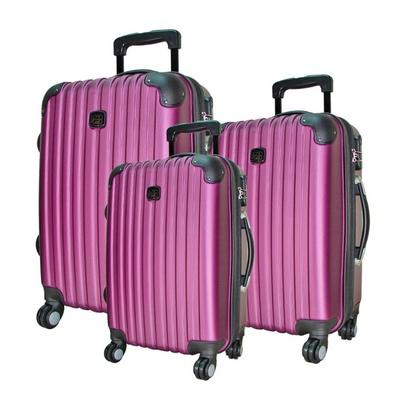 【BATOLON 寶龍】風尚條紋ABS輕硬殼行李箱20吋
