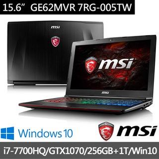 MSI微星 15.6吋電競筆電 i7-7700HQ/16G/256+1TSSD/GTX1070-8G (GE62MVR-005)