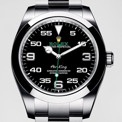 【ROLEX 勞力士】Air-King 空中霸王男士自動機械腕錶