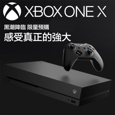 【Microsoft 微軟】Xbox One X 1TB 黑潮版