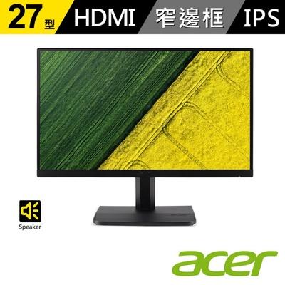 【ACER 宏碁】ET271 27型IPS無邊框螢幕
