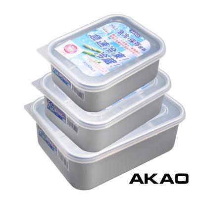 【AKAO】急速冷凍解凍保鮮盒-三入(深、淺型)