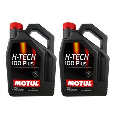 MOTUL | น้ำมันเครื่อง H-TECH 100 plus สำหรับเครื่องยนต์เบนซิน 4 ลิตร 10W-40