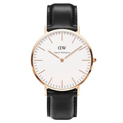 【Daniel Wellington】時尚潮流皮革腕錶 (0211DW)