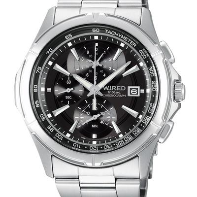 WIRED 極限玩家三眼計時腕錶7T82-X002D