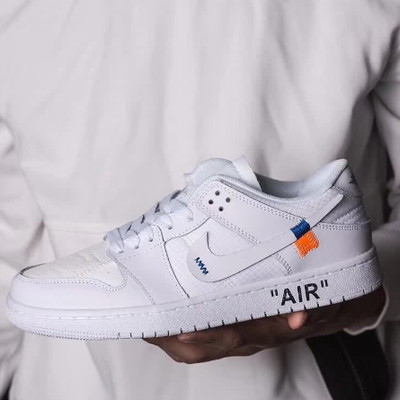 NIKE x OFF WHITE | รองเท้าผ้าใบ Nike Jordan 1 X OFF WHITE Original Shoes
