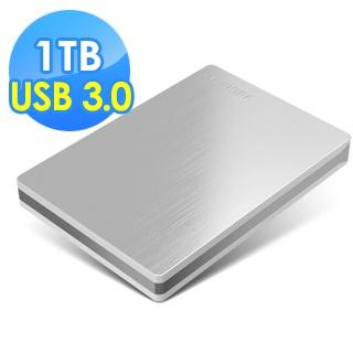 【TOSHIBA 東芝】Canvio Slim 1TB USB3.0 2.5吋行動硬碟