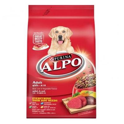 ALPO | ADULT Beef Liver & Vegetable Flavour อัลโป อาหารสุนัขโต รสเนื้อวัว ตับ ผัก