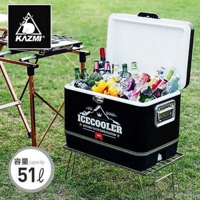 【KAZMI黑爵士不鏽鋼行動冰箱51L】K6T3A015