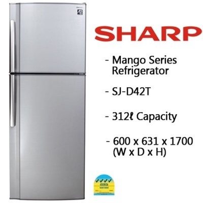 Sharp SJ-D42T 2 Door Fridge