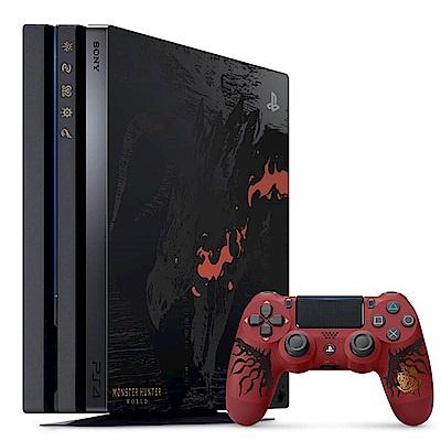 PS4 Pro 主機 1TB 魔物獵人:世界 空王者 火龍 同捆組