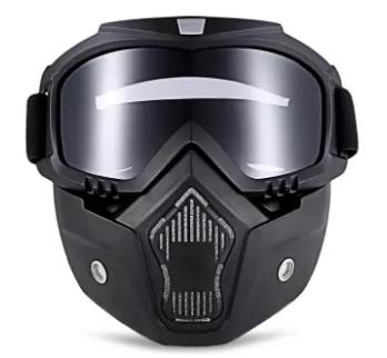 ROBESBON |โรเบสบอน แว่นตาจักรยานยนต์พร้อมหน้ากากที่ถอดออกได้และปากกรอง Harley  MT - 009