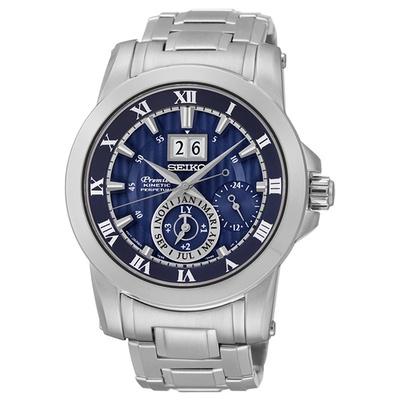 SEIKO精工 Premier 羅馬人動電能萬年曆腕錶 SNP113J1