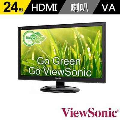 【ViewSonic】VA2465Smh 24型 VA 廣視角 護眼螢幕