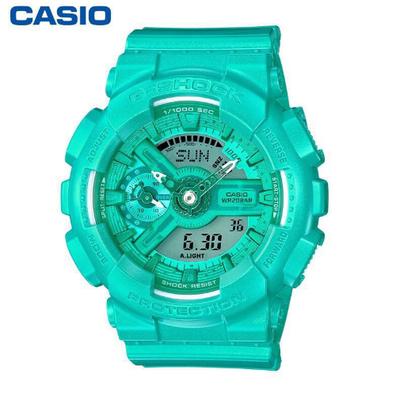 CASIO   นาฬิกาข้อมือผู้หญิง รุ่น CASIO GMA-S130-2A - สีเขียวฟ้า