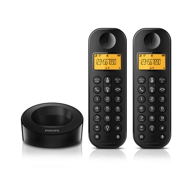 PHILIPS飛利浦 雙子機數位無線電話 D1202B
