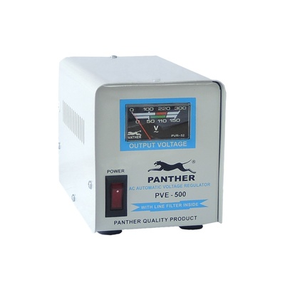 Panther   PVE-500 500W Relay Type AVR Automatic Voltage Regulator 3 Sockets