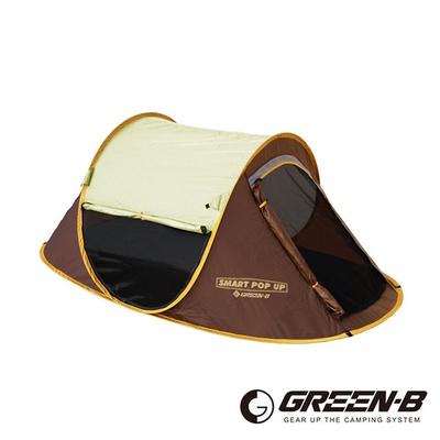 【GREEN-B】一秒速開透氣紗窗雙人沙灘帳