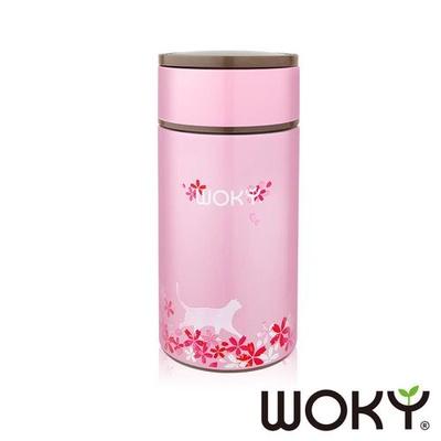 【WOKY沃廚】櫻花限定版-316不鏽鋼真空悶燒食物罐1000ML