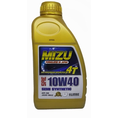 Mizu | 10W40 4T API SN Fully Synthetic Lubricant Motorcycle Engine Oil