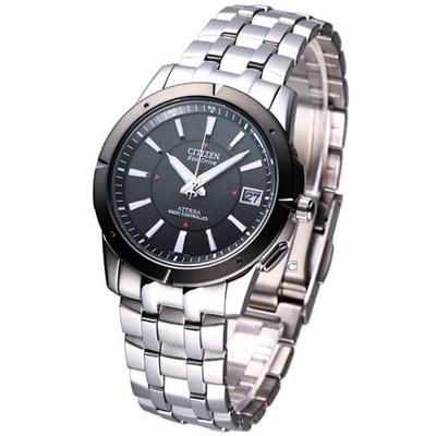 CITIZEN 星辰 ATTESA 電波系鈦金屬夜光騎士腕錶AS7001-51E