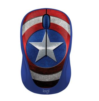 LOGITECH |Wireless Mouse (M238) MARVEL COLLECTION CAPTAIN AMERICA