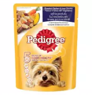 PEDIGREE® | อาหารสุนัขชนิดเปียก แบบเพาช์ ในน้ำเกรวี่พร้อมผัก