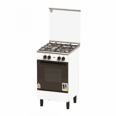 Zanussi | 3 Burner 62L Free standing Gas Cooker With Oven (ZCG530W)