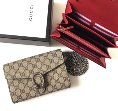 GUCCI | Gucci Dionysus GG Supreme Canvas Wallet On A Chain