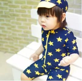 Yilang | ชุดว่ายน้ำเด็กชายพร้อมหมวกว่ายน้ำ