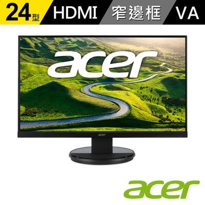 【acer 宏碁】K242HYL B 24型 VA無邊框 廣視角螢幕