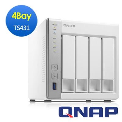 【QNAP威聯通】TS-431 4Bay Nas 網路儲存伺服器