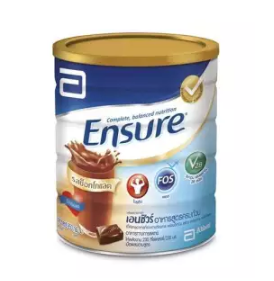 Ensure | อาหารเสริมสูตรครบถ้วน กลิ่นชอคโกแลต Ensure Complete and balanced nutrition Chocolate